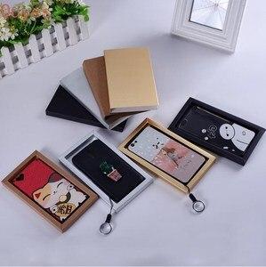 Image 4 - 20pcs 전화 케이스 포장 상자 서랍 종이 골 판지 상자 매트 슬리브 선물 상자 보석 디스플레이 상자