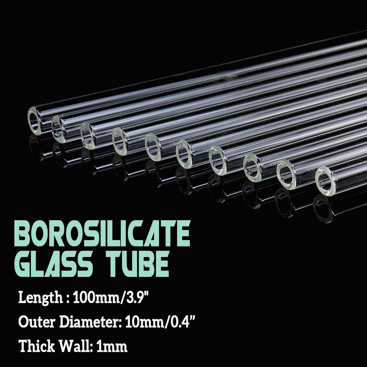 Wholesale 10pcs Laboratory 100x10x1mm Test Tube Transparent School Tool Glass Buret Mixer Glass Stirring Rod Lab Stiring Stirrer