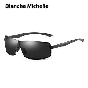 Image 3 - Bm Aluminium Frame Gepolariseerde Zonnebril Mannen UV400 Merk Designer Rijden Zonnebril Mannelijke Goggle Spiegel Vintage Oculos Masculino