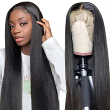 Wigs Frontal Human-Hair Bone-Straight-Brazilian Full-Lace Women for Black 150%Density/13x4
