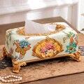 Европейская стильная тканевая коробка  роскошное домашнее украшение  коробка для салфеток из смолы  креативный поднос  Рождественское укра...