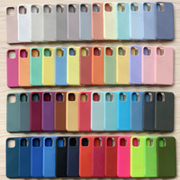 Funda de silicona Original oficial para iPhone 11, 12 Mini Pro Max, X, XR, XS Max, 8, 7, 6, 6s Plus, funda suave a prueba de golpes con caja de logotipo