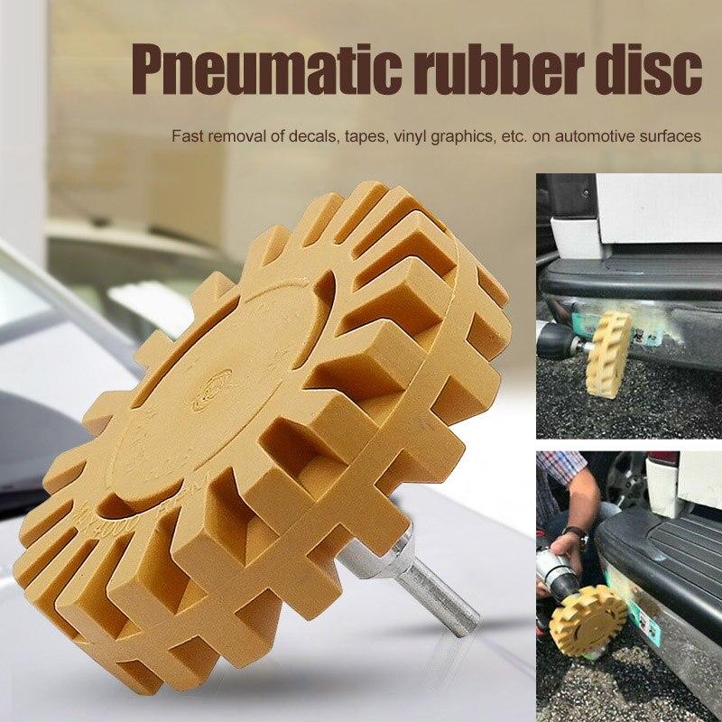 Newly Pneumatic Degumming Wheel Rubber Grinding Tire Polishing Wheel Tool TE889
