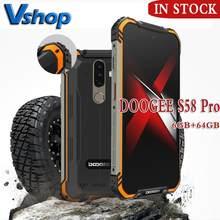 Globalny telefon komórkowy DOOGEE S58 Pro IP68/IP69K wodoodporny wytrzymały telefon 5180mAh 5.71FHD + wyświetlacz 6GB + 64GB Android 10 NFC Smartphone