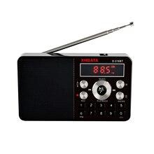 XHDATA D 318BT mini mp3 çalar stereo radyo fm taşınabilir ekran desteği kayıt MP3 tekrar hoparlör fonksiyonu ile TF kart