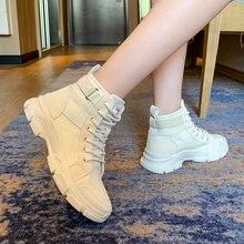 Новые женские зимние ботинки для девочек в корейском британском