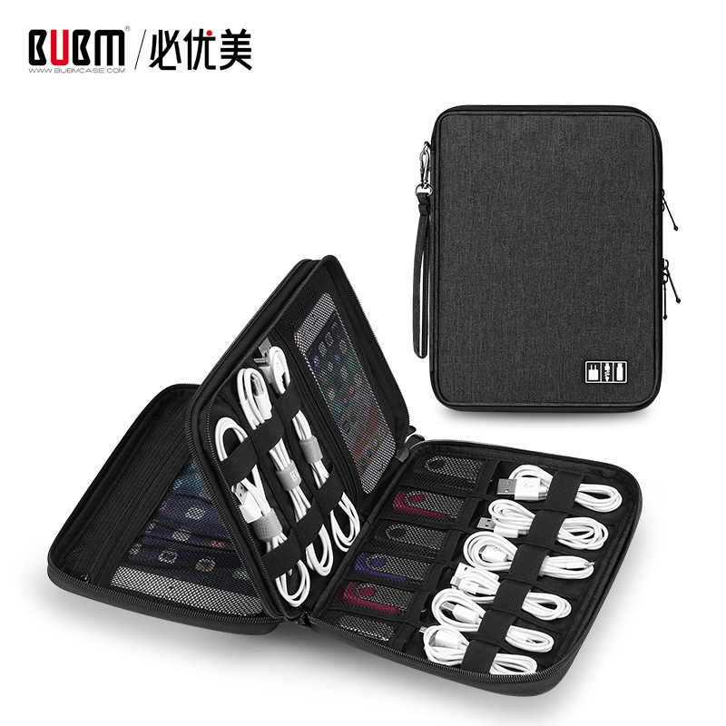 BUBM bag for electronic accessories travel electronic organizer storage for data wire ipad hard drive