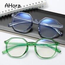 Transparent-Frame Myopia-Eye-Glasses-Frame Finished Women Blue-Film Ahora Polygon