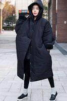 Womens Plus Long Hooded Cotton Down Loose Parka Oversize Coat Jacket Outwear Hot