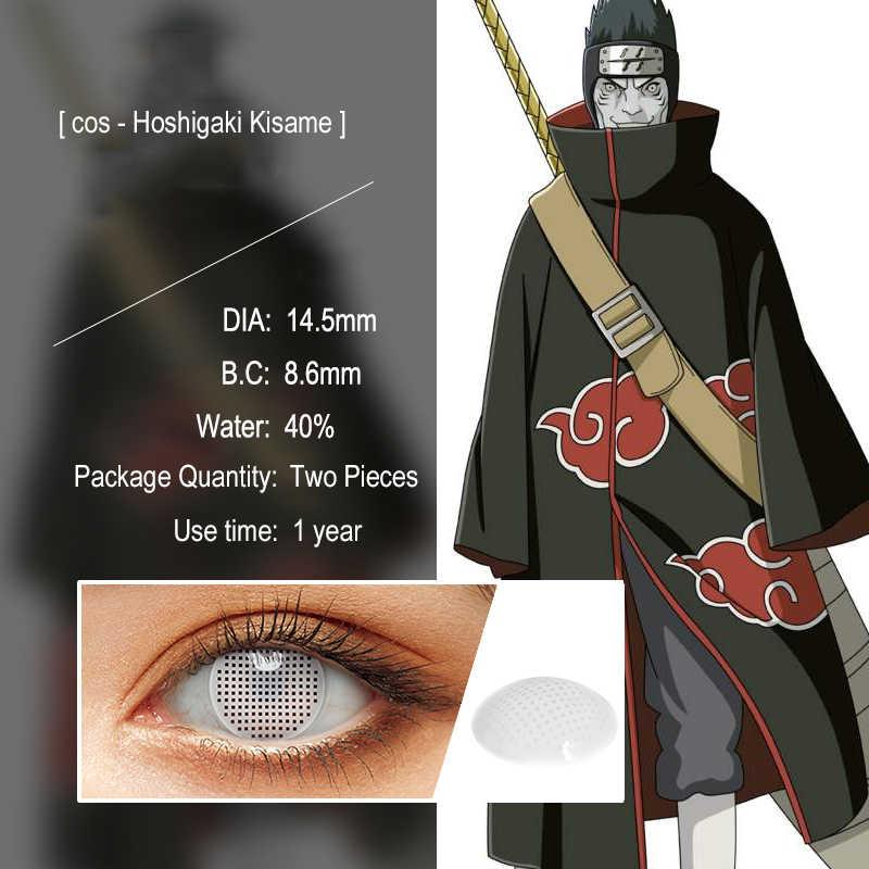 2Pcs/Pasang Cosplay Anime Mata Lensa NARUTO Sharingan Lensa Kontak untuk Mata Uchiha Sasuke Hatake Kakashi Lensa Berwarna untuk Mata