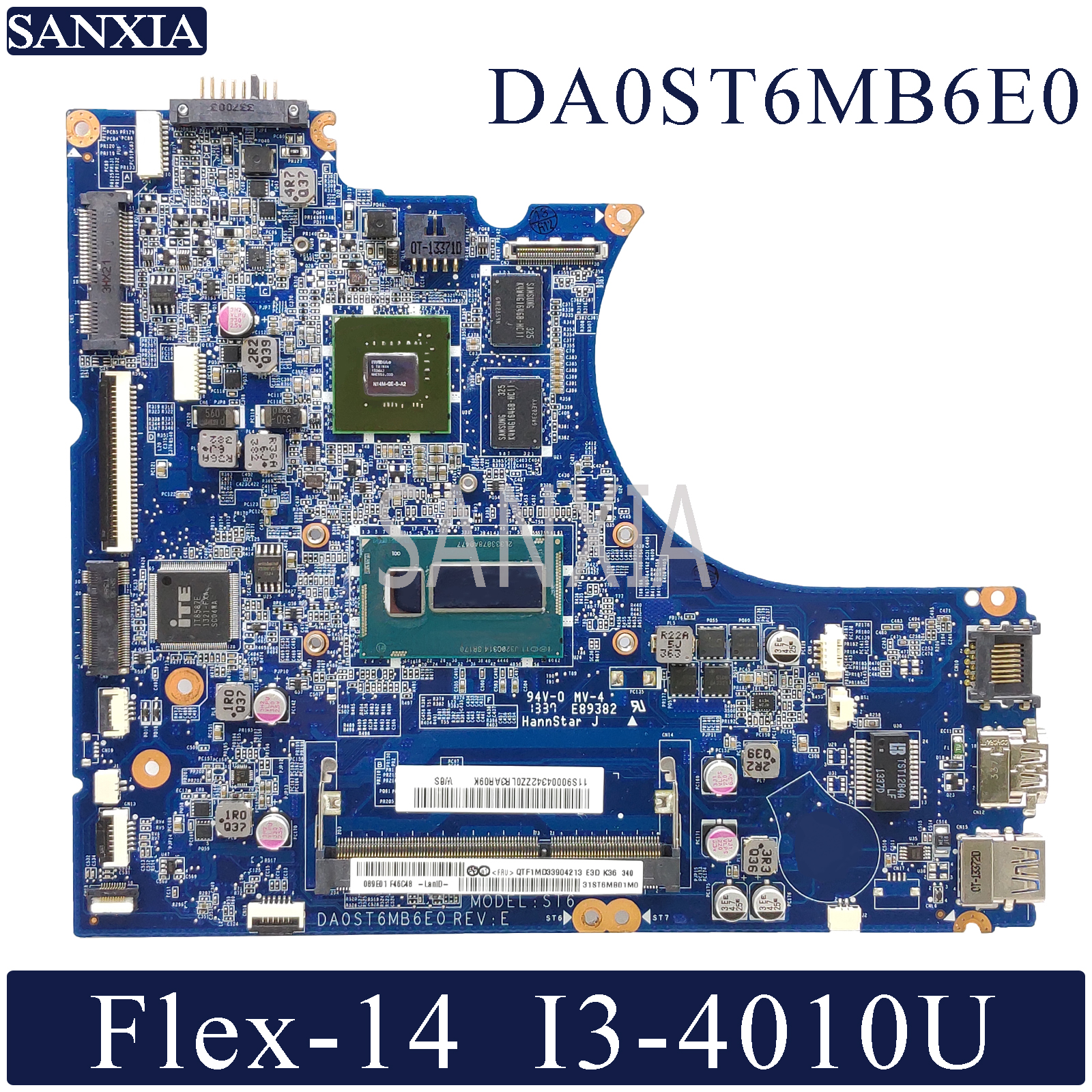 KEFU DA0ST6MB6E0 Laptop Motherboard For Lenovo Flex-14 Original Mainboard I3-4010U GT720M