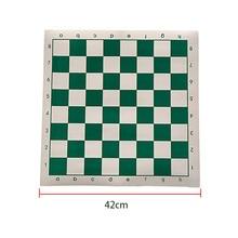 Традиционная шахматная доска детская обучающая игра портативные нарды шашки из искусственной кожи для начинающих