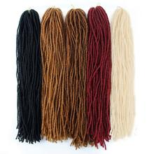 Braids Slender Straight Goddess Faux Locs Crochet Hair Synthetic Sister Braiding