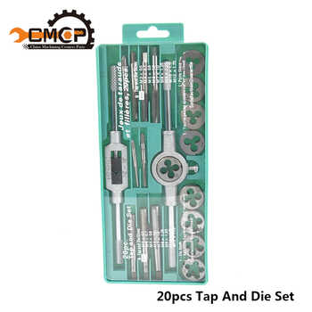 Hand Tools 20pcs High Quality Tap And Die Set Metric Thread Tap And Dies Adjustable Tap Wrench 1/8-1/2 3mm-12mm Screw Tap - DISCOUNT ITEM  5% OFF All Category
