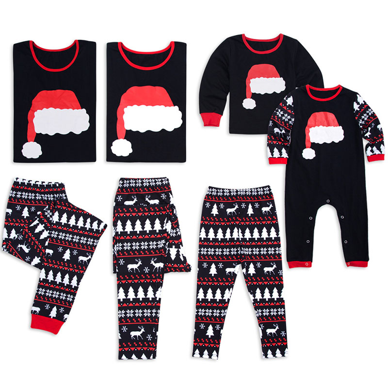 Christmas Family Pajamas Adults Children Mom Daughter Funny Christmas Pajamas Family Look Father Son  Matching Clothes 2PCS Sets