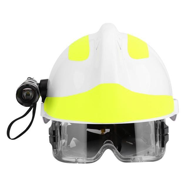 Capacetes de segurança de resgate de emergência anti impacto bombeiro capacete de proteção com farol e óculos de proteção
