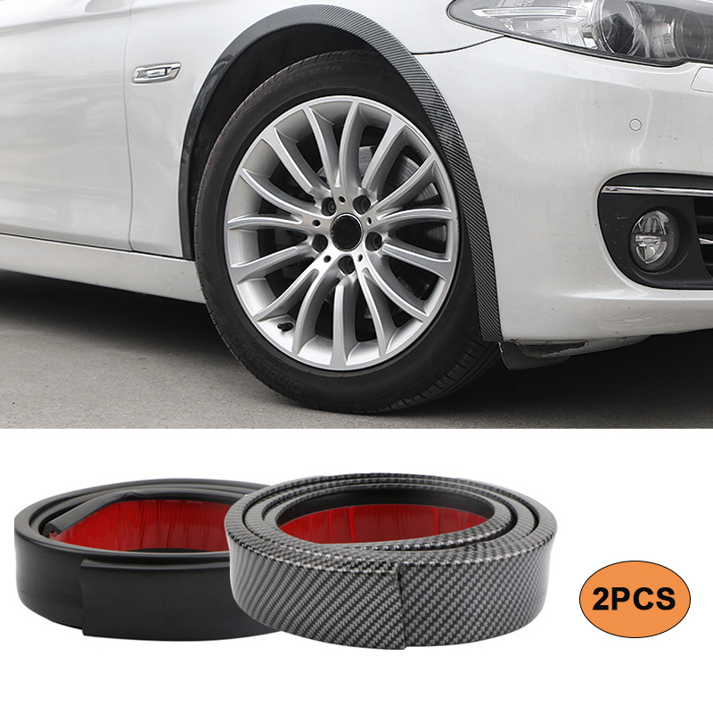 2pcs 1.5 M Universal Rubber Car Wheel Arch Protection Moldings Anti-collision Mudguard Car Wheel Protection Wheel Car Stickers