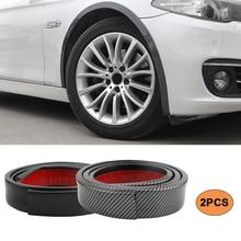 Guardabarros anticolisión para rueda de coche, 2 uds., 1,5 m, Universal, protección de goma para coche, pegatinas para rueda de coche