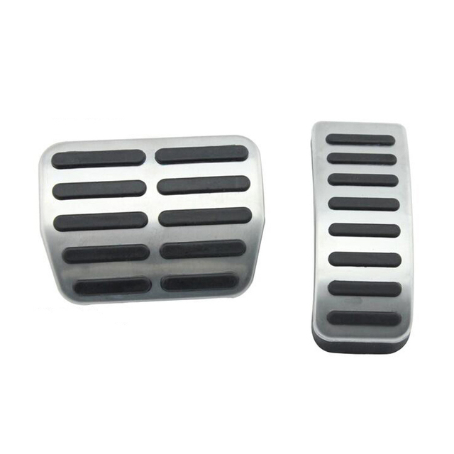 Stainless steel Car Pedals Cap Clutch Accelerator Brake Cover for VW Polo Golf 4 Jetta MK4 Bora For Skoda Fabia car styling
