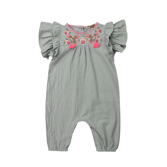 Baby Summer Ruffle Floral...