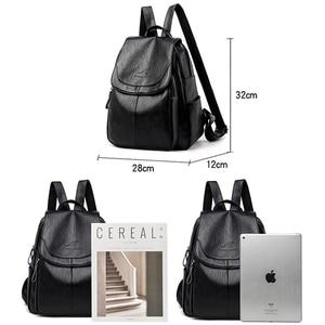 Image 4 - Женский кожаный рюкзак, дизайнерские сумки через плечо для женщин 2020, школьные сумки для девочек подростков, Mochila Feminina