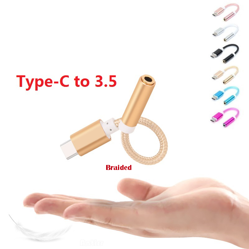 USB Type C To 3.5mm Earphone Headphone Cable Adapter USB-C To 3.5mm Jack Aux Cable For Letv 2 2pro Max2 Pro 3 For Xiaomi 6