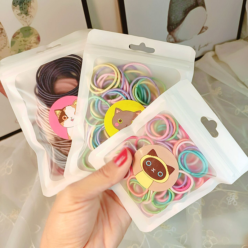 100PC Sweet High Elastic Children's Series Ponytail Elastic Hair Bands Lovely Girls Hair Accessories HeadWear