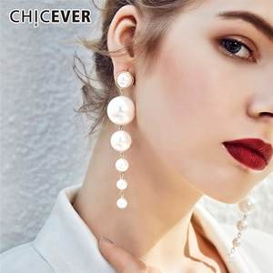 Earmuffs Accessories Stud-Earrings Jewelry Pearl CHICEVER Female Fashion Women for New