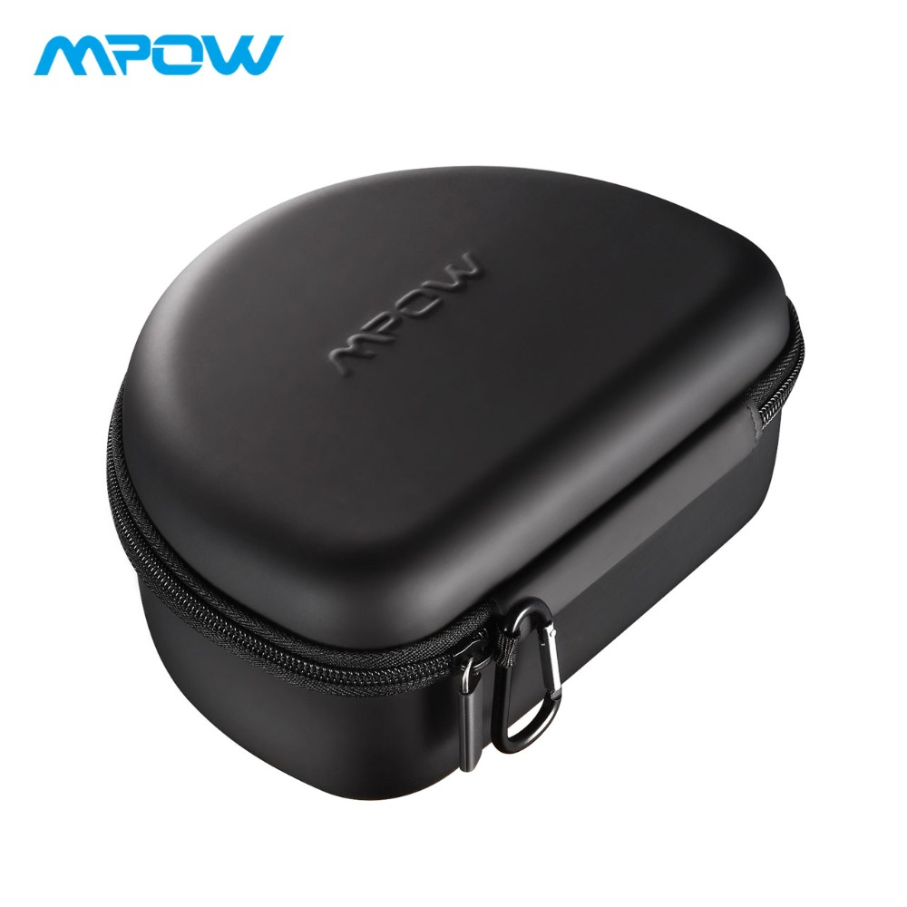 Mpow Headphone Black Carrying Case Universal Outdoor Storage Protective Bag for Headsets Over-ear Foldable Headphones
