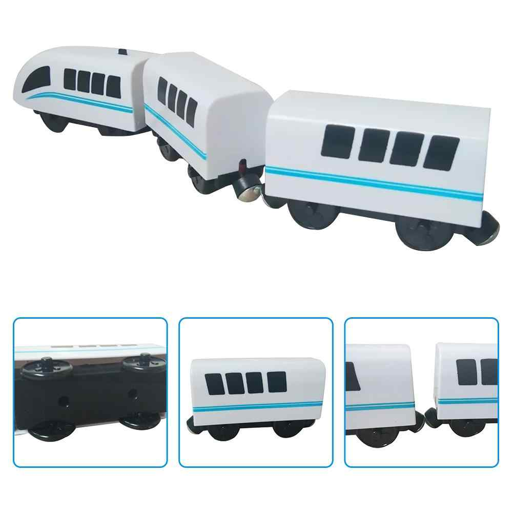 Детская игрушечная Паровозик Hape Паровозик классика детская игрушка локомотив совместим с Томасом BRIO деревянная дорожка