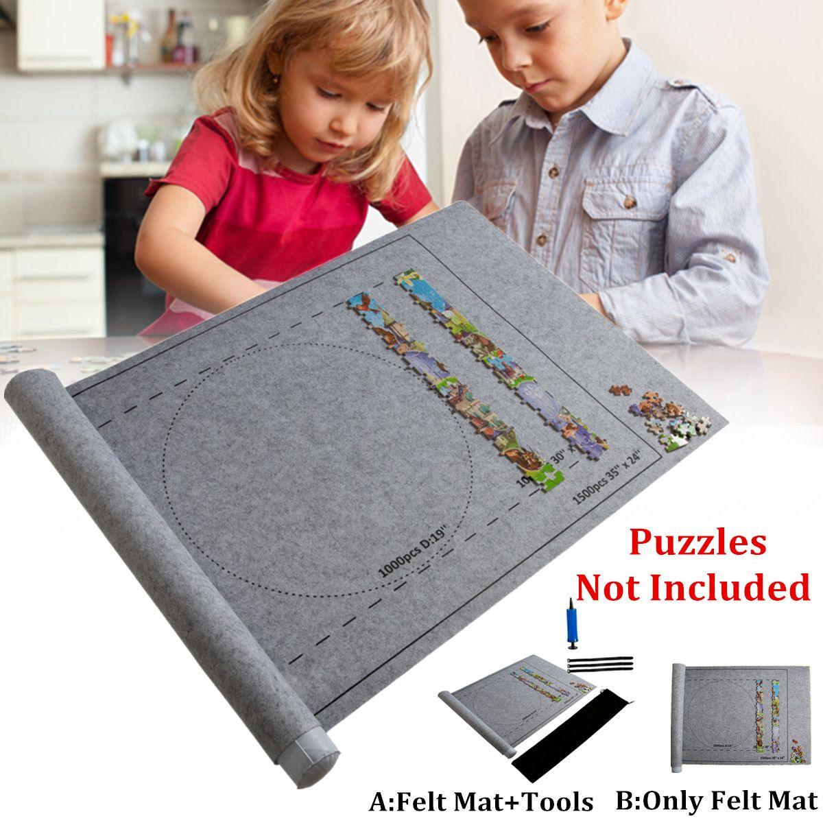 Puzzles Cobertor Para Até 1500pcs Acessórios Jigsaw Puzzles Mat Mat Roll Esteira do Jogo Grande Portátil Saco de Armazenamento de Viagem para o Brinquedo do Miúdo