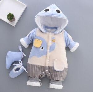 Image 2 - BibiCola dziewczynek Plus aksamitna zagęścić Romper niemowlę body noworodka ciepłe Romper kombinezony dla dziewczyna maluch bawełna ubrania