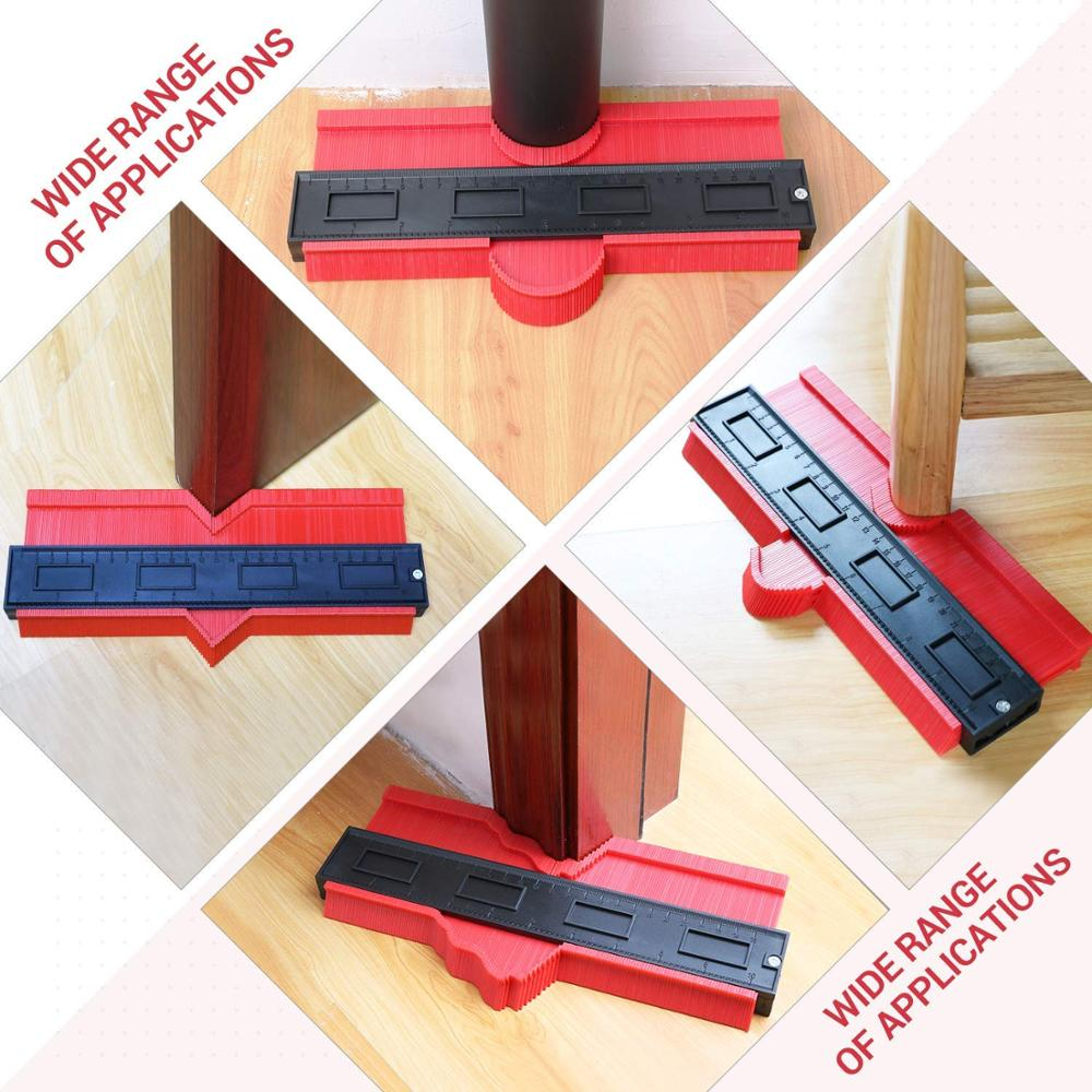 Plastic Contour Gauge Profile Gauge Duplicator Copy Irregular Shapes Tracing Template Measuring Tool For Fit And Easy Cutting