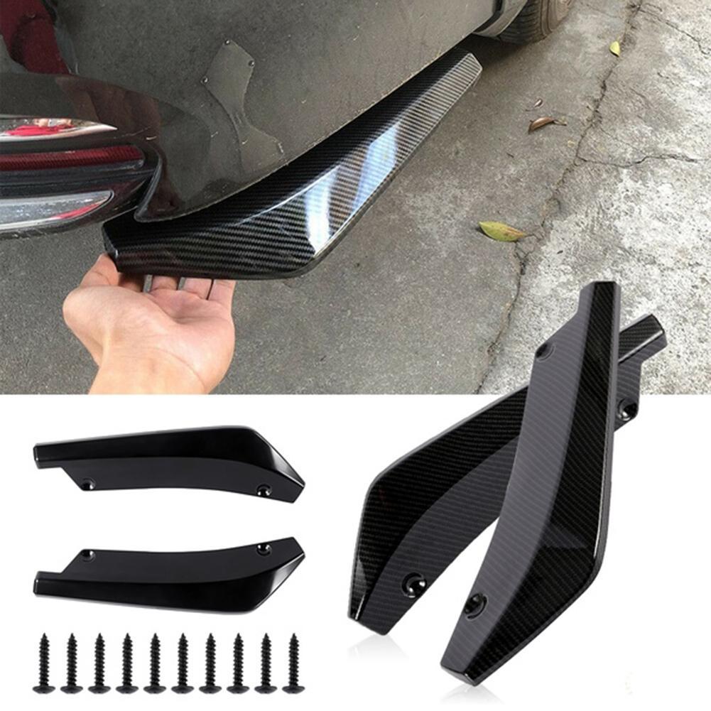 2 pçs universal carro amortecedor traseiro lábio difusor splitter spoiler scratch protector 2019