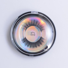 Flash Girl 1 Pair 3D Silk Protein Lashes 100% Handmade Beautier Mink Eyelashes Extension Makeup with Box