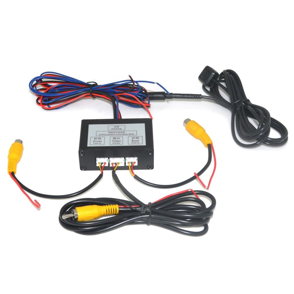 Car Parking Camera Video Channel Converter Auto Switch Front /View Side/Rearview Rear View Camera Video Control Box With M