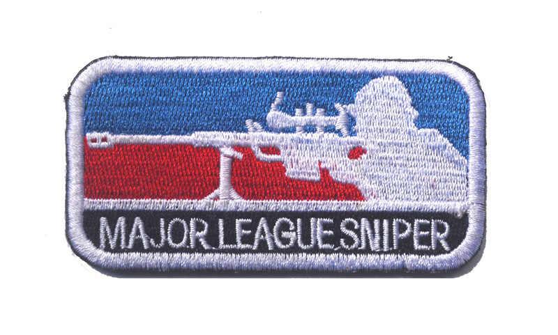 Major League Sniper Moral Patch Velcro Emblema Do Ombro Bordado Tático Fãs Do Exército-Mochila Estilo Adesivos 3-Cor