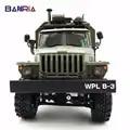WPL RC camión B36 Ural 1/16 2,4G 6WD de Control remoto Camión Militar Rock Crawler coche Hobby juguetes para niños carro eletrico