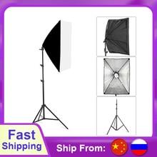 Fotoğraf Softbox aydınlatma kitleri 50x70CM profesyonel sürekli ışık sistemi için fotoğraf stüdyosu ekipmanları