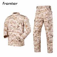 Uniforme militar americano de camuflaje táctico, uniforme de combate de las Fuerzas Especiales del Ejército de los Estados Unidos, traje Digital de camuflaje del desierto