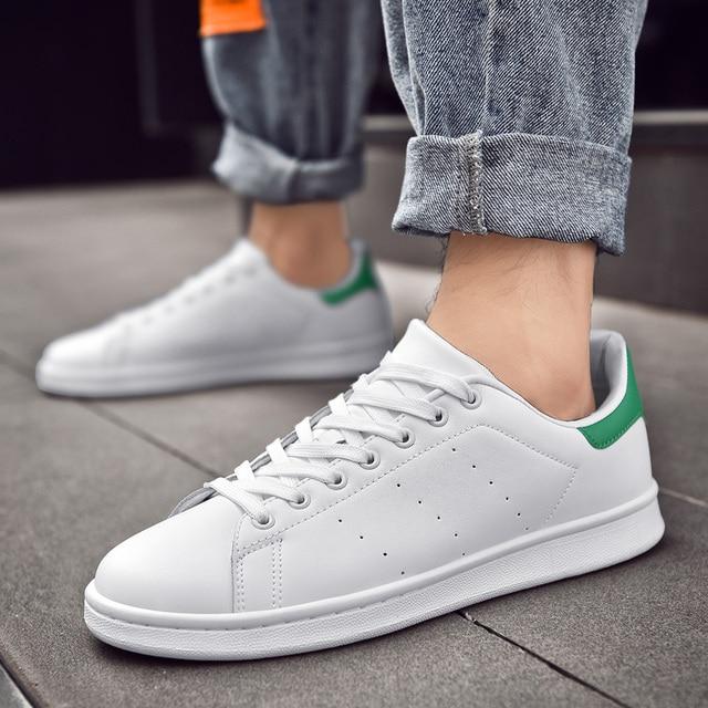 Zapatos Smith de Four seasons para hombre, zapatillas clásicas antideslizantes, resistentes al desgaste, informales, color blanco