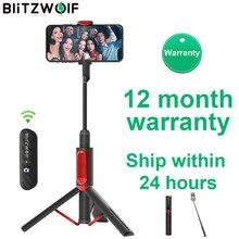 Blitzwolf bw-bs10 alles in einem tragbaren bluetooth selfie stick mit ausziehbarem stativ ausziehbar faltbar einbeinstativ live stream reise männer frauen für iphone 11 x 8 für samsung huawei xiaomi smartphone