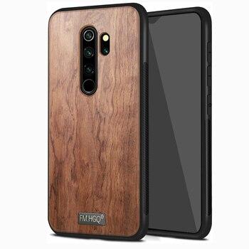 for Xiaomi Redmi Note 8 8T 9S 7 Pro Max Case Slim Wood Back Cover TPU Bumper Case for Redmi 7 Magnet Cover Car Phone Cases