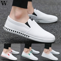 Shoes Men 2019 Summer Slip On Breathable Sneakers Casual Canvas Shoes For Men Sneakers White Shoes Simple zapatos de hombre729