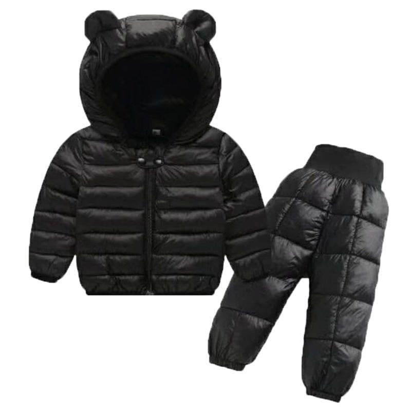 Winter Girls Boys Toddler Coat Kids Down Coat Winter Jackets Girls Outerwear Children Snowsuit Clothes 2PCS Set Doudoune Fille 5