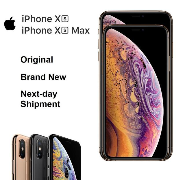 "Original New iPhone Xs/Xs Max 4G LTE FaceID All Screen 5.8/6.5"" OLED Super Retina Dispay IOS Smart Phone IP68 Waterproof Mi"