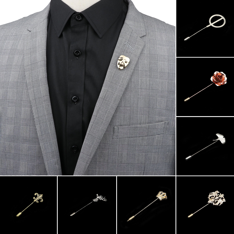 Мужская Улучшенная искусственная маска в форме листа, булавка для костюма, шаль, лацкан, булавки Uxedo, Корсажная булавка для шляпы, рубашки, во...