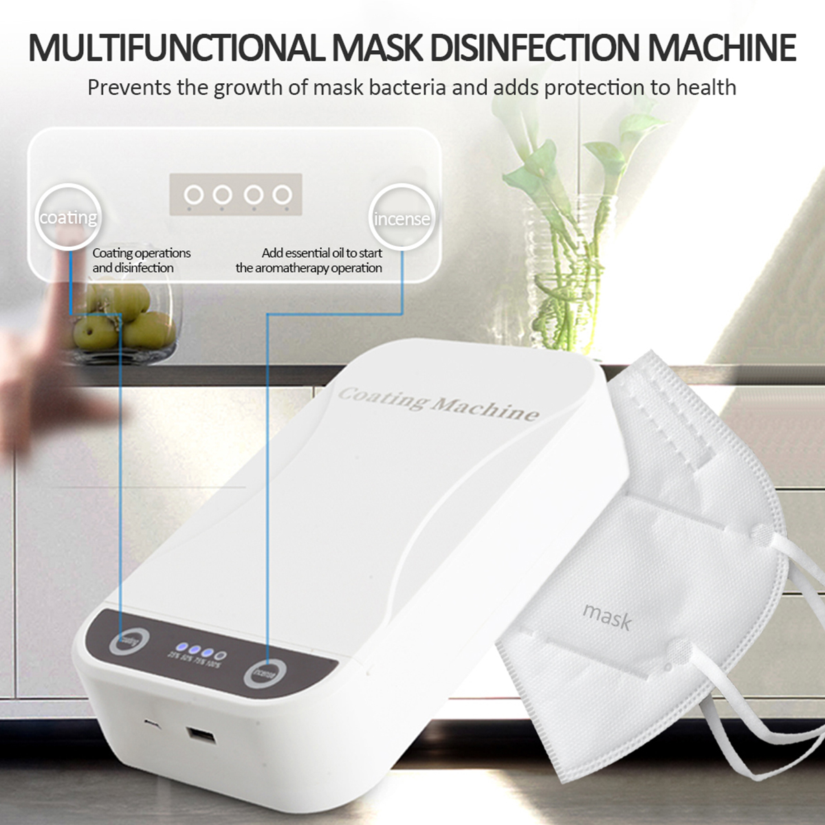 Face Mask Sterilizer Box UV Anti Bacteria Ultraviolet Ray Disinfection For Multifunctional Phone Charging Box With Jewelry Watch