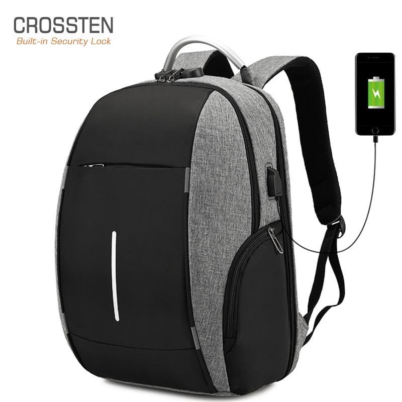 2020 Новый Crosste Комбинации блокировки Анти Вор нейлон Для мужчин 15,6 дюймов ноутбука рюкзаки мужской Mochilas Повседневное Для женщин Для мужчин школьный рюкзак|Рюкзаки|   | АлиЭкспресс - 11/11 AliExpress