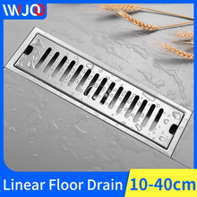 цена на Linear Floor Drains Bathroom Shower Floor Drain Stainless Steel Tile Insert Channel Drainer Cover Anti-odor Floor Waste Grates